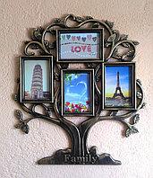 """Фоторамка """"Семейное дерево - Family"""", на 4 фото, фото 1"""