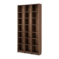 Стеллаж БИЛЛИ коричневый ясеневый шпон 120x28x237 см ИКЕА, IKEA, фото 1