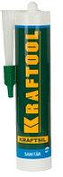 Герметик силиконовый KRAFTOOL SX105 белый, санитарный, для помещений с повышенной влажностью, 300мл