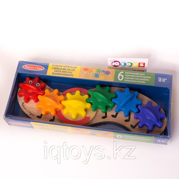 Развивающая игрушка Гусеница с шестерёнками