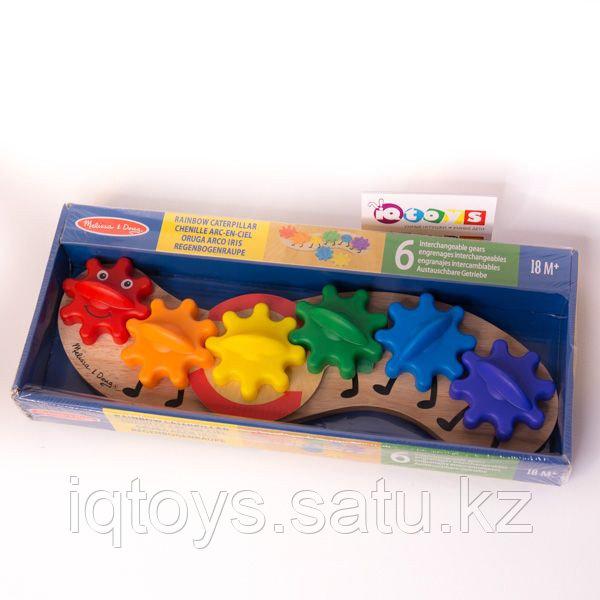 Развивающая игрушка Melissa & Doug Гусеница с шестерёнками
