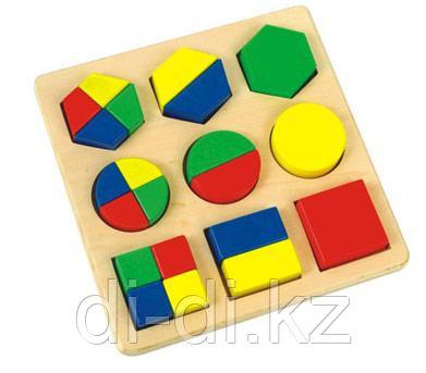 Игрушка Деревянные Геометрики с вкладками