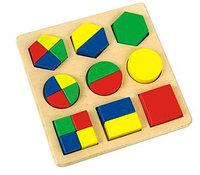 Игрушка Деревянные Геометрики с вкладками, фото 1