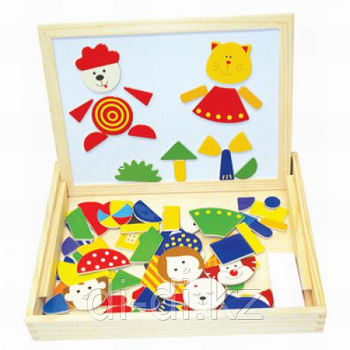 Деревянный детский набор 3 в 1 Магнитная доска