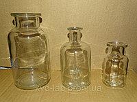 Склянки для реативов с широкой горловиной и притертой пробкой из светлего стекла 5000 мл