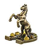 """Фигурка """"Лошадь на подкове"""" с янтарем. Ручная работа, фото 2"""