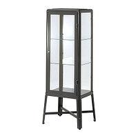 Шкаф-витрина ФАБРИКОР темно-серый ИКЕА, IKEA