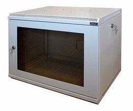 Шкаф настенный МиК 6U, 600*350*360, KEYS, серый, дверь-стекло