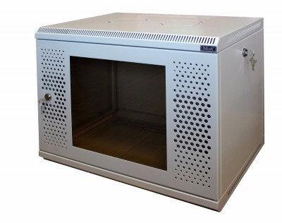 Шкаф настенный МиК 6U, 600*350*360, KEYS, серый, дверь-перфорация+стекло, фото 2