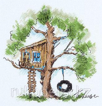 """Набор для вышивания крестом """"Домик на дереве"""""""