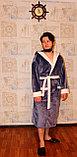 Домашнний мужской халат  с капюшоном, вельсофт, фото 2