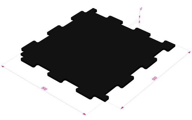 Резиновая модульная плитка ТАБУЛАТ - 10