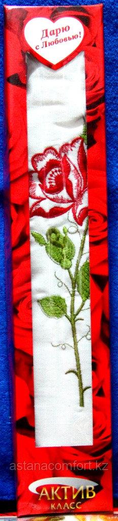 """Подарок для женщины - Полотенце подарочное """"Роза"""". 50*90 см. Турция."""