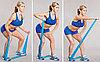 Лента-жгут для упражнений пилатес, средней упругости, ширина 5 см, толщина 1,2 мм