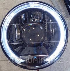 Фары линза, с диодной подсветкой (белые, черные) ВАЗ 2101-21214