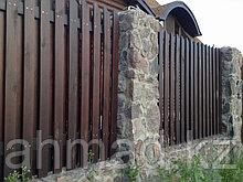 Забор из дерева. Алматы