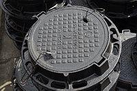Люк чугунный тип-С, круглый с запорным устройством.