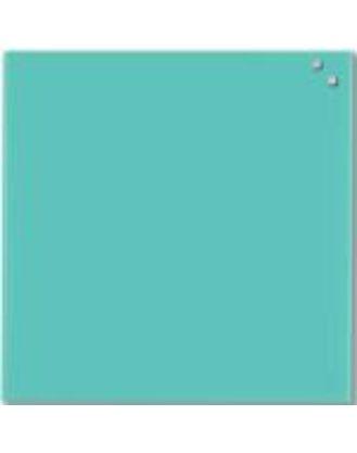 Доска стеклянная магнитно-маркерная, 45х45 см, цвет бирюзовый
