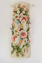 Панно Бабочки на цветах. Фарфор. Ручная работа. Италия