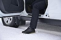 """Защита порогов """"Чистые штаны"""" (черное тиснение) Renault Duster 2012-"""