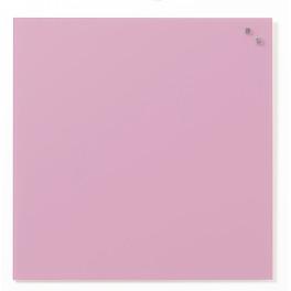 Доска стеклянная магнитно-маркерная, 45х45 см, цвет розовый (фуксия)