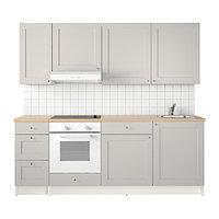 Кухня КНОКСХУЛЬТ серый 220x61x220 см ИКЕА, IKEA, фото 1