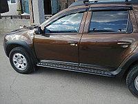 """Пороги """"Эстонец"""" с алюминиевой площадкой (сталь), фото 1"""