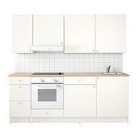 Кухня КНОКСХУЛЬТ белый 220x61x220 см ИКЕА, IKEA, фото 1