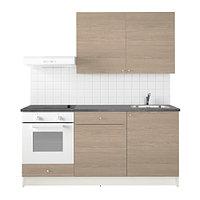 Кухня КНОКСХУЛЬТ под дерево серый, 180x61x220 см ИКЕА, IKEA, фото 1