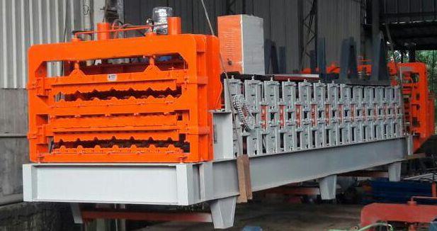 Трехуровневое оборудование для изготовления металлочерепицы и профнастила