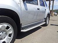 Пороги с алюминиевой площадкой Renault Duster, фото 1
