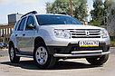 """Защита переднего бампера """"Двойная"""" Renault Duster, фото 2"""