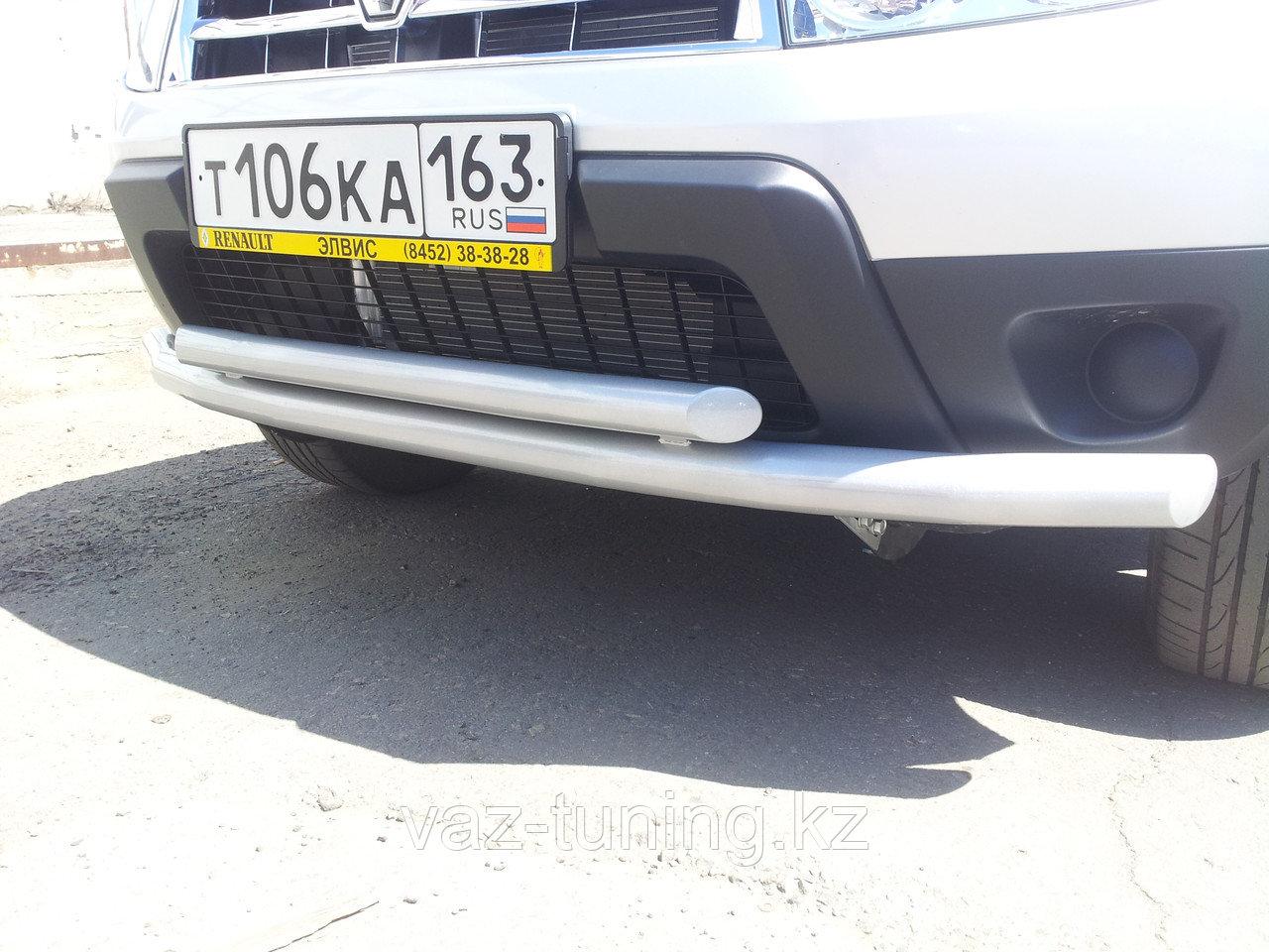 "Защита переднего бампера ""Двойная"" Renault Duster"