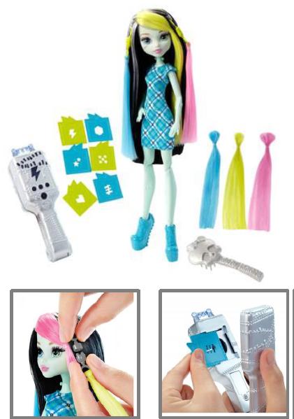 Кукла Фрэнки Штейн - Высоковольтные волосы, Школа Монстер Хай DNX36 - фото 3