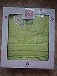 Подарок для женщины. Банный махровый халат, фото 4