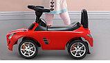 Толокар машинка Mercedes-Benz SLS AMG (Красный), фото 7