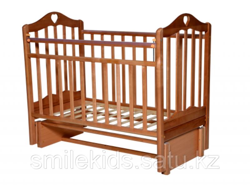 """Кровать детская Антел """"Каролина-3"""", (орех)"""