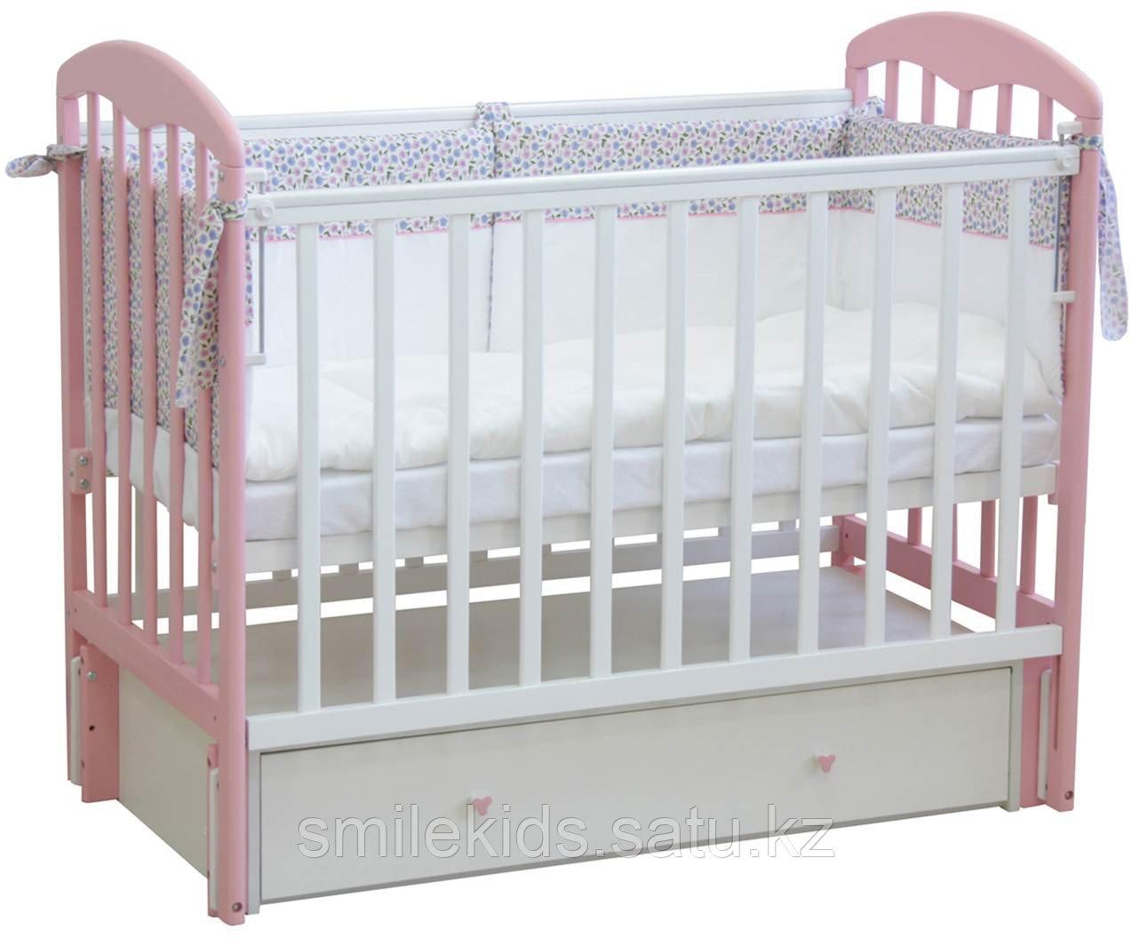 """Кровать детская Фея """"328"""", (белый-магнолия)"""