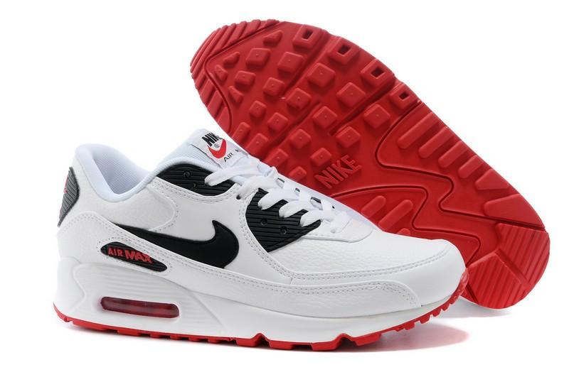 "Кроссовки Nike Air Max 90 Essential ""White Red Black"" (37-44)"