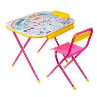 """Набор трансформируемой мебели  Дошколёнок - """"Блокнот"""" розовый, фото 1"""