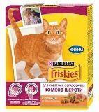Friskies Hairball Фрискис сухой корм для кошек для контроля образования комков шерсти (с курицей), 300 г, фото 1