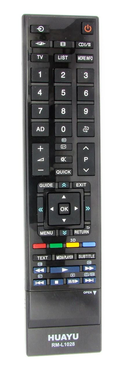 Пульт для телевизора TOSHIBA (HUAYU) RM-L1028 (LCD+3D) универсальный