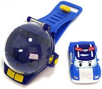 """Часы с мини-машинкой на ИК-управлении """"Робокар Поли"""", фото 1"""