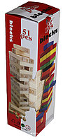 Игра Дженга Blocks Цветная 29 см, фото 1