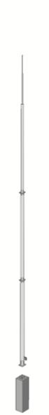 Мачта молниезащитная с бетонным фундаментом H=19500 mm