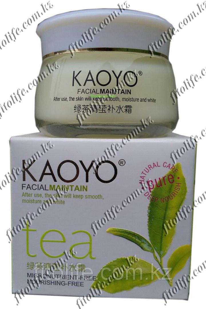 Увлажняющий крем Kaoyo, зелёный чай