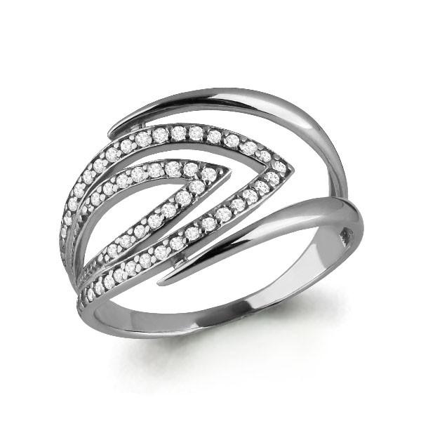 Серебряное кольцо с фианитом