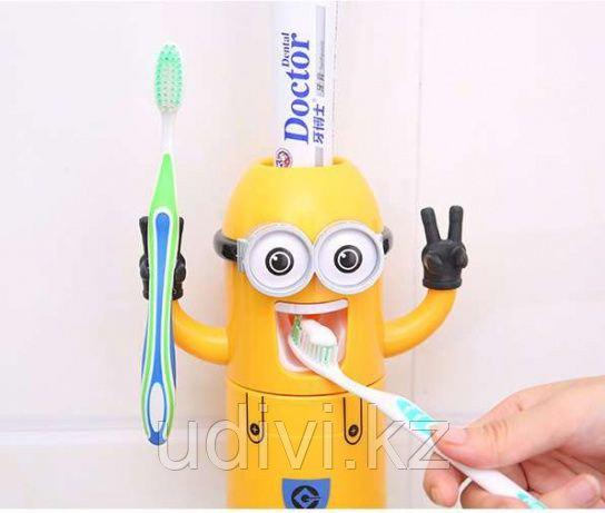 Дозатор для зубной пасты 3 в 1. Миньон.