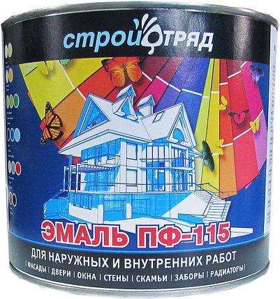 ЭМАЛЬ ПФ-115 коричневая 30 кг, фото 2
