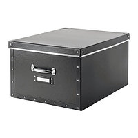 Коробка с крышкой ФЬЕЛЛА темно-серый ИКЕА, IKEA , фото 1